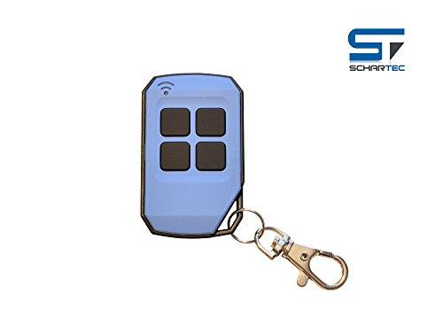 Universal Handsender 433,92 MHz in 4 verschiedenen Farben von Schartec - Funk Fernbedienung 433 MHz - Garagentoröffner 433.92 MHz für Garagentorantrieb (blau)