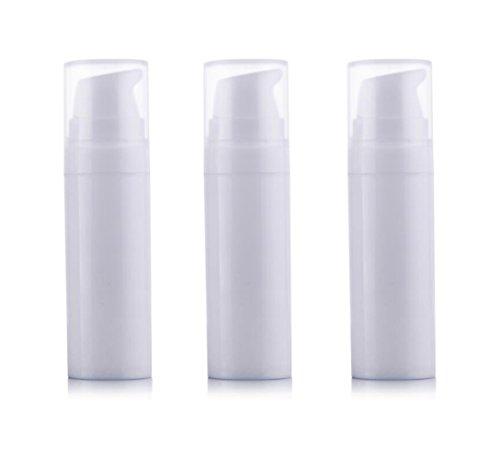 3 PCS Blanc Vide Jetable Portable Mini Airless Pompe À Vide Bouteille Bocal Pots Baïonnette Crème Lotion Distributeur Cosmétique Maquillage Emulsion Conteneur De Stockage (15ml/0.5oz)