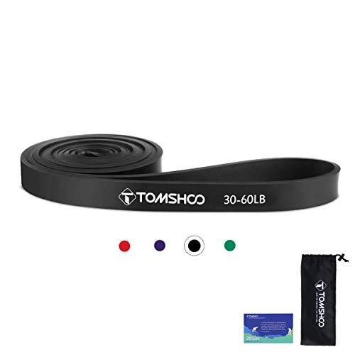 TOMSHOO Banda Elastica di Resistenza 2080mm Pull Up Bande 15-125lbs Fascia per Esercizi per Stretching, Powerlifting, Allenamento della Resistenza