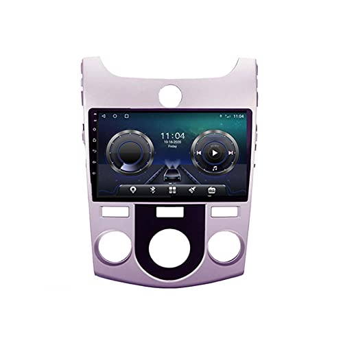 GOHHK 9'Android 10.0 Radio Automático Video Multimedia Player para Kia Cerato Forte MT 2008-2014 Auto Accesorios GPS WiFi Bluetooth Estéreo(Size:Opción BQuad-Core,Color:WiFi:2GB+32GB)