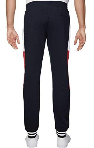 Tommy Hilfiger Colorblocked Sweatpants Pull De Sport, Bleu (Blue A), X-Large Homme