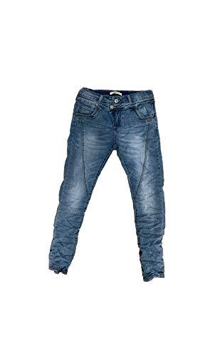 Crazy Age Boyfriend Baggy Jeanshose mit schräger Knopfleiste und Reißverschluß C 613 (40, Debim(9152))