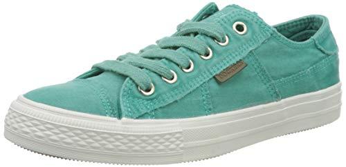 Dockers by Gerli Women's Low-Top Sneakers, Turquoise Türkis 640, 10