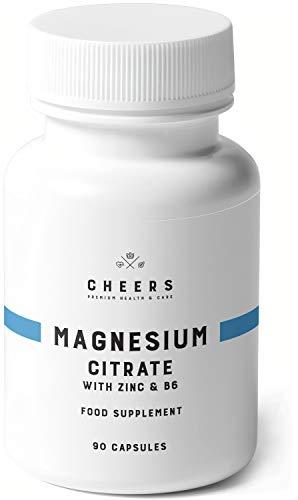 Compresse di Citrato di Magnesio (320 mg) - 90 Capsule Vegane - ZMB6 - Il più alto Assorbimento nei Integratore di Magnesio - Zinco e Vitamina B6