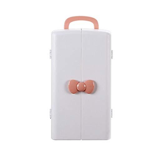 Boîte de Rangement de cosmétiques (Color : Pink, Taille : 21 * 22 * 37.5CM)