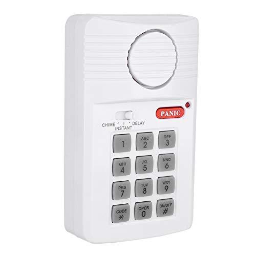 ASHATA deuralarmsysteem 3 instellingen veiligheidstoetsenbord met paniktoets voor huis kantoor en garage