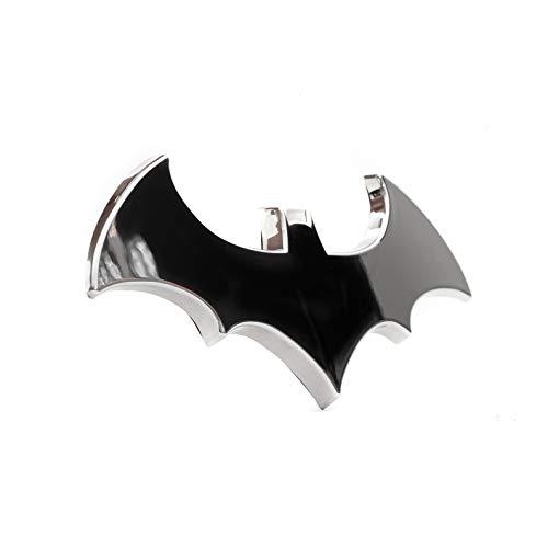 """Batman 3D Chrome Auto Emblem - (4.2"""" x 2"""") - The Dark Knight Decal For Cars, Trucks, SUVs"""