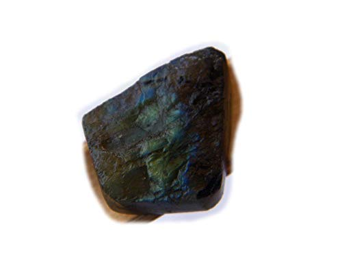The Best Jewellery Rough Labradorite cabochon, 21Ct Natural Gemstone, Free Form Shape Cabochon for Jewelry Making (18x15x5.5mm) SM-5900
