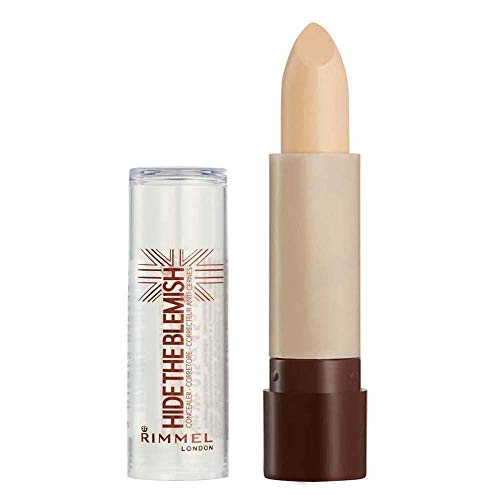 Rimmel London Hide The Blemish Stick Concealer, Instant Retouch and Imperfection Camouflage with Easy Application, 001 Ivory, 4.5 g
