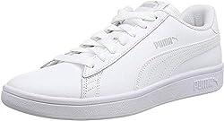 Puma Unisex-Erwachsene Smash v2 L Sneaker, White White White, 46 EU