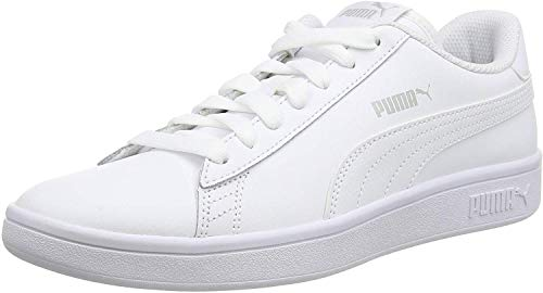 PUMA Smash v2 L, Baskets de Cross Mixte, Blanc White White, 43 EU