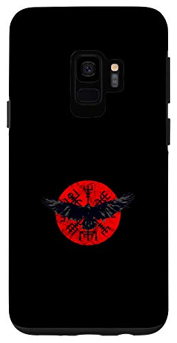 Galaxy S9 Vegvisir Norse Mythology Raven Viking Germanic Celtic Case