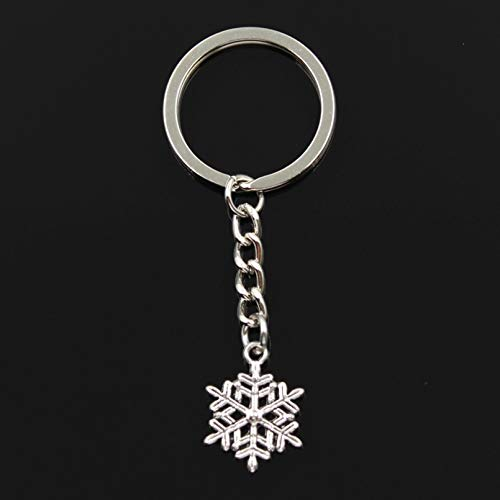 DMAIP Key Ring Metal Key Chain Keychain Bronze Silver Color Plated Snow Pendant