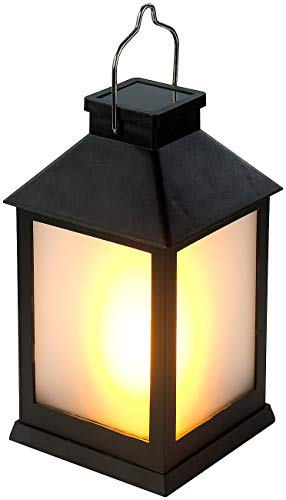Lunartec Solar Laterne Flamme: Solar-Gartenlaterne mit 12 Flammeneffekt-LEDs, Lichtsensor, Akku, IPX3 (LED Solar Laterne)