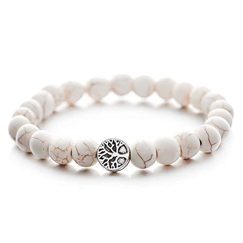WHFDRHSZ armband armband voor vrouwen mannen yoga wit zwart Yin Yang kralen armbanden ketting sieraden