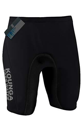 Kounga DW Pantalones Cortos de Neoprenos de 2MM, Hombre, Negro, L