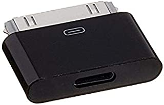 Iphone 5 8-Pin Female to Iphone 4 30-Pin Male adapter for Iphone 4/4S/Ipod 3/Ipod 4/Ipod Touch Black Color