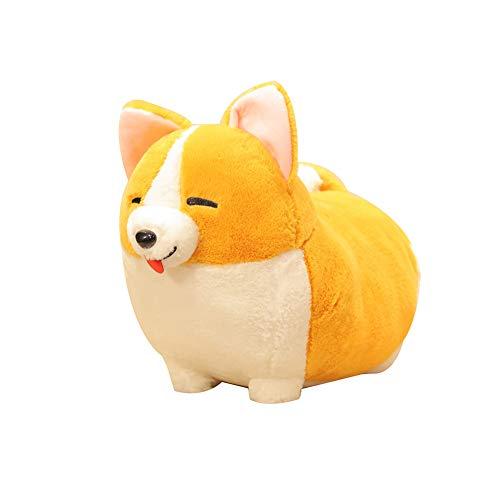 Catkoo Niedlich stehend Bowknot Corgi Hund plüsch Puppe Spielzeug nach Hause Sofa Kissen dekor,Perfektes Neues Jahr,Valentinstag,Geburtstagsgeschenk Squint Eyes