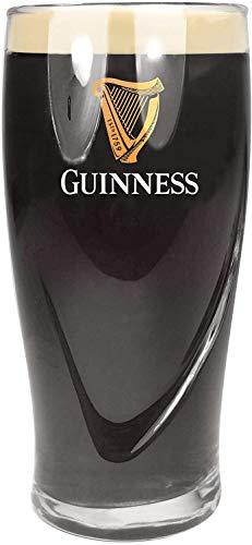 SP Guinness - Bicchieri da pinta da 568 ml, marcati CE, motivo arpa goffrata, confezione da 4