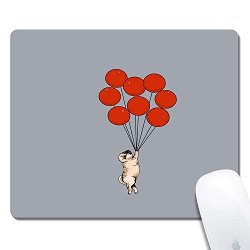 Computer Mops mit roten Luftballons Rechteck Mauspad Gedruckte Gummi Schreibtisch Zubehör Maus Matte