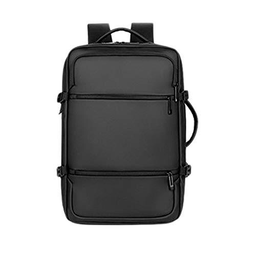 VANOLU Mochila de viaje de negocios USB multifuncional impermeable para estudiantes, viajes de negocios, para hombre, color negro