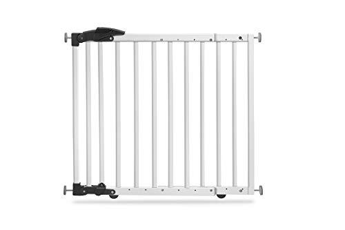 Geuther 2714 WE Türschutzgitter zum Klemmen oder Schwenken 2in1, 2714, In Verstellbereich, 68 - 102 cm, weiß, 3.9 kg