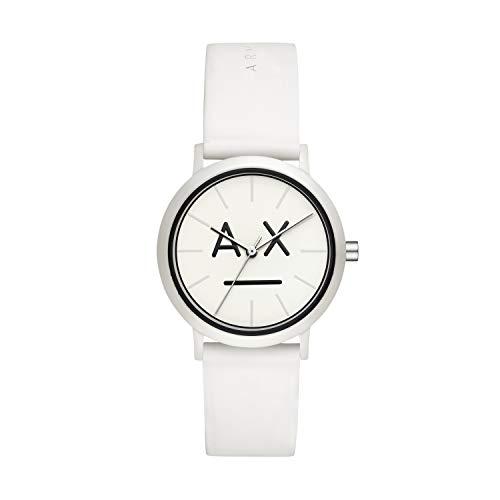 Emporio Armani Damen Analog Quarz Uhr mit Silikon Armband AX5557
