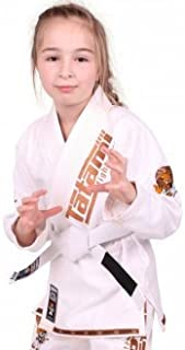 Kids White Animal Ju Jitsu Gi - W/Free White Belt