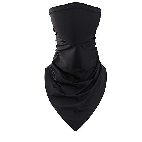 Doek gezicht wasbare sjaal Naadloze Face Cover voor heren Dames Winter Koudlopende motorfiets,A