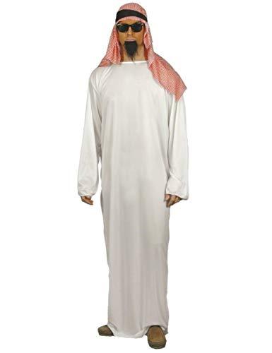 Generique - Disfraz de emir rabe con cofia para Hombre - L