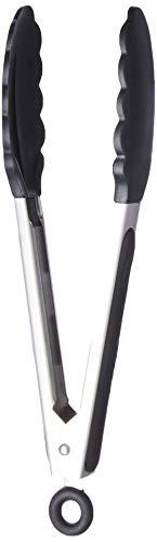Pegador Inox Com Ponta Em Silicone 23cm Weck Preto