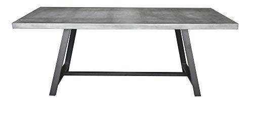 Matodi Novum Esstisch Betontisch 200x90x75 cm Stahlgestell schwarz