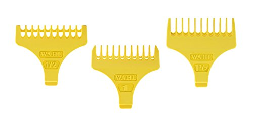 Wahl Professional Set of 3 T Blade Trimmer Guides, Yellow