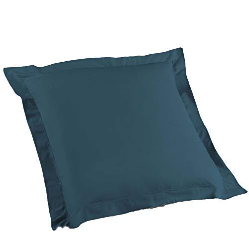 douceur d'intérieur 1642618 Taie d'Oreiller, Coton, Bleu Nuit, 63 x 63 cm