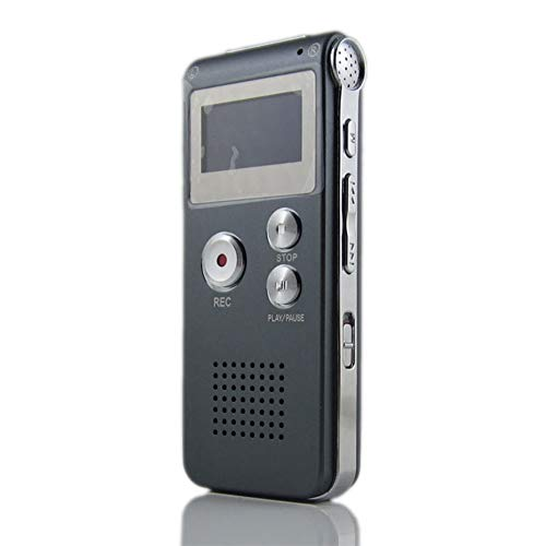 FASD Hochwertiges Aufnahmegerät 8 GB Mini Digital Audio Voice Recorder MP3-Player Eingebautes Mikrofon