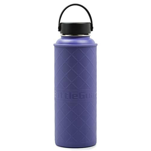 bottleguard TPU Flasche Sleeve Displayschutzfolie für Hydro Fläschchen Fifty/Fifty & Takeya thermoflask Edelstahl Flaschen, Pflaume