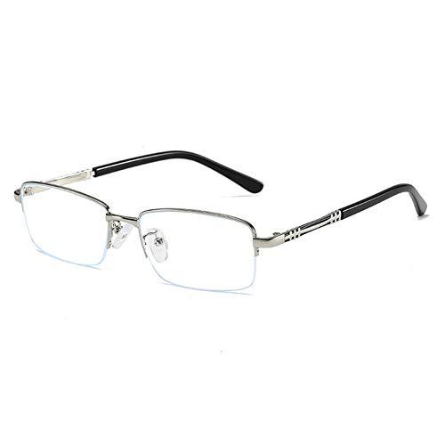 EYEphd Gafas Lectura Zoom automóviles progresivas Inteligentes para Hombres, Gafas de Sol para Exteriores de Lente de Resina múltiple HD/antirreflejo Ampliación +1.0 a +3.0,Plata,+1.0