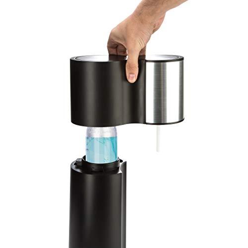Levivo Wassersprudler Starter-Set inkl. 2 Sprudelflaschen & CO2-Zylinder 60 Liter in Weiß oder Schwarz, Schwarz - 7