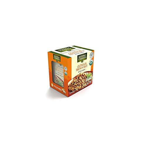 Seeds of Change Bio-Quinoa und brauner Reis mit Knoblauch, 240 ml, 6 Stück A1