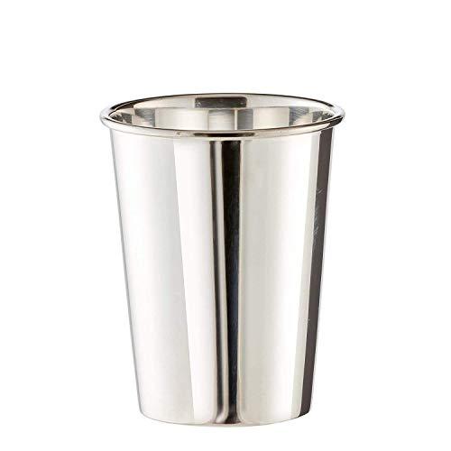 Brillibrum Design Trinkbecher Versilbert Anlaufgeschützt Taufbecher Mit Wunschgravur Gourmet Becher (Höhe: 11,5 cm (Gravur bis 20 Zeichen))