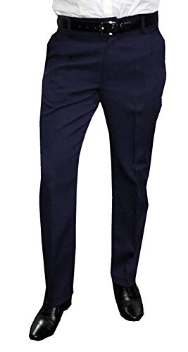 NGB Herren Anzughose mit Bügelfalte, Blau, Gr 60
