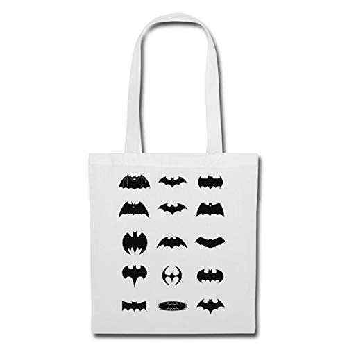 DC Comics Batman Logos Entwicklung Stoffbeutel, Weiß