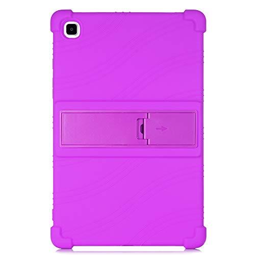 Samsung Galaxy Tab A7 10.4 2020 (SM-T500/T505/T507), ATOOZ PC Holder Tablet Case, Anti-drop for Samsung Galaxy Tab A7 case Silicone Cover (Purple)
