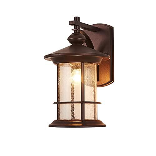 YXLMAONY Lámparas de pared para exteriores de metal impermeables modernas, apliques de luz LED para pared, apliques de luz para pared exterior, lámparas de pared, luz de porche y patio, escaleras de p