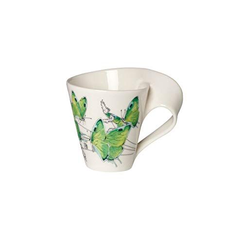 Villeroy & Boch NewWave Caffè Kaffeebecher, Premium Porzellan, Grün,