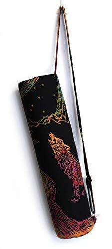 Sac de transport avec bandoulière pour tapis de yoga et de yoga, Loup multicolore., FULL