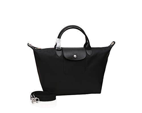 LGP LongchampTasche Damen Handtasche Le Pliage Groß Tote Bag Neu Faltbare Schultertasche Einkaufstüten 1515 (schwarz)