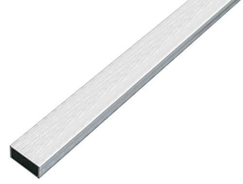 GAH-Alberts 488840 Rechteckrohr | Aluminium, edelstahldesign, hell | 1000 x 20 x 10 mm