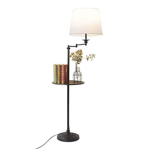 Lampes de chevet Lampadaire Décoration Simple Lampadaire Salon Chambre D'étude Vertical Lampadaire Plateau De Rangement Lampadaire Lampe De Table (Color : Blanc, Size : 40 * 160cm)