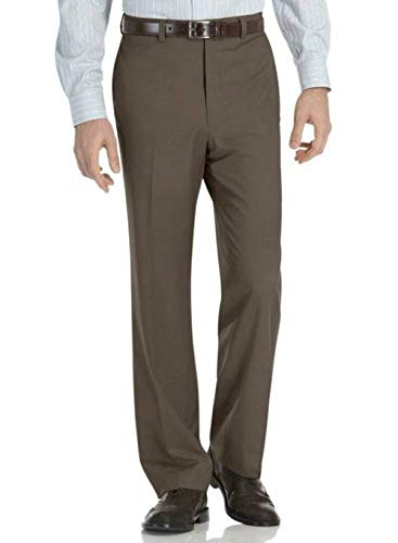AXIST Men's Brown Flat Front Modern Fit City Dress Pants-Size 29x30